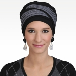 Turban Doris Noir /Gris Chiné