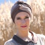 Turbans Leslie Chocolat/Beige