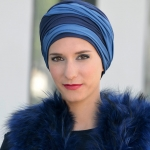Turban Leslie Bleu/Marine