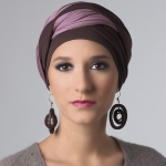 Turban Leslie Brun / Rose