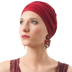 Turban Femme Bordeaux Diana Boutique La Galerie de Turbans