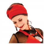 TURBAN LESLIE TAUPE/ROUGE BAMBOU