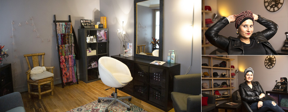Salon du prothésite capillaire pour femme La Galerie des Turbans Paris